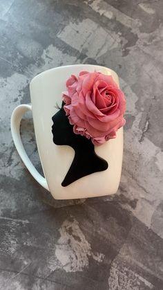 Clay Jar, Polymer Clay Crafts, Ceramic Clay, Polymer Clay Dolls, Cat Birthday, Friend Birthday, Birthday Gifts, Clay Art Projects, Diy Mugs