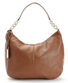 Calvin Klein Handbag, Key Item Leather Hobo - Handbags & Accessories - Macy's