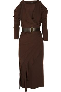 Donna+Karan+Cutout+stretch-jersey+dress