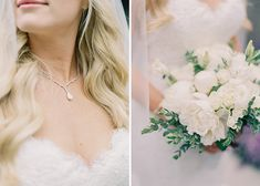 Gorgeous Poolside Wedding At A Private Residence In Orange County: White on white looks stunning on this bride for her wedding day!