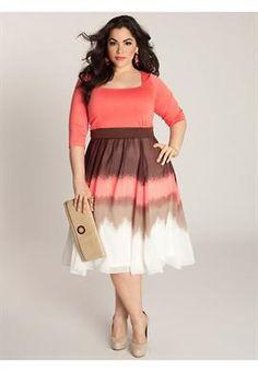 Good color block, bringing the eyeline down.  Plus Size Blythe Dress