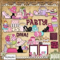 Diva Birthday 1 - Cheryl Seslar Country Clip Art
