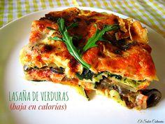 Cómo hacer una lasaña de verduras light. Receta fácil y baja en calorías | Cocinar en casa es facilisimo.com