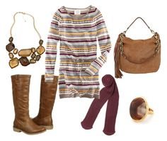 Thanksgiving Outfit Idea-- tights and boots #fashion #style