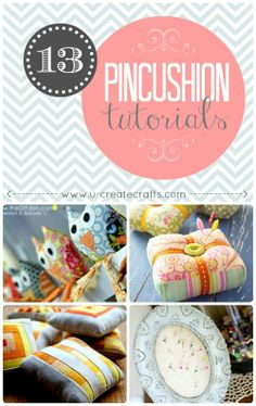 Fabulous Pincushion Tutorials - love all these ideas especially when you don't want to she'll out a bunch of Baht for something so simple... Plus I have 150 THB (5 bucks) or 1 kg of stuffing I need to get through... My Mae baan was being helpful O_o