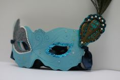Masquerade Mask DIY - how to make the mask and decorate it too.