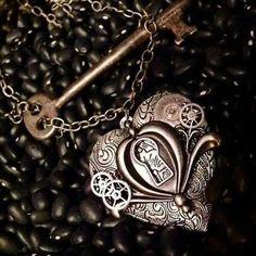 Bijoux Steampunk, Steampunk Accessoires, Porte Clef, Coeur Amour, Colliers,  Attente, 9ab3a512393