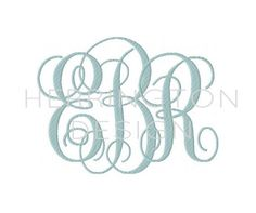 8 and 9 inch Embroidery Fill Interlocking by HerringtonDesign