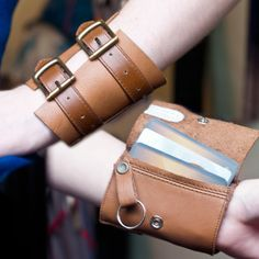 Leather Buckle Wrist Wallet