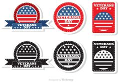 Veteran's Day Badges