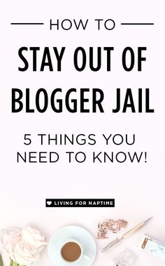 Want to stay out of bloggy jail? Then you need to make sure to read this blog post written by an attorney on how you can stay on the good side of the blogging law.