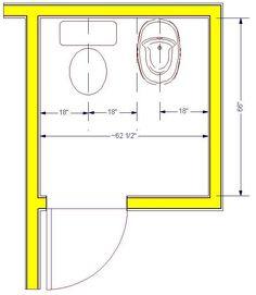 Bath Remodel in Lincoln Nebraska, Bath Design Guidelines: Toilet Compartment.Click to Enlarge —