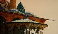 'mevlana' Oil on canvas.Muhsin Kaleli