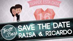 Save The Date Personalizado Casamento (Personagem) - Raisa e Ricardo