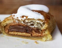 Peanut Butter S'Mores Turnovers - If plain old S'Mores just don't cut it...here they get stuffed in a flaky crust w/ peanut butter!
