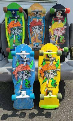 Real Skateboards, Vintage Skateboards, Surfboard Skateboard, Skate Surf, Pirate Skull, Birthday Presents, Metallica, Family Photos, Surfing