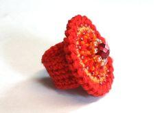 crochet ring - ~~~ Häkelringe ~~~ ❤ by Carnela - Rings - Textile Jewellery - DaWanda