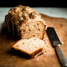 Date Quick Bread with Pecan Streusel | This date-studded quick bread can be made into mini loaves to give as gifts, or it can be baked as a standard loaf for serving at a meal. The streusel topping uses fresh pecans, a traditional gift in the South.