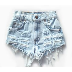 """ALL SIZES """"CHECKER"""" Vintage Levi high-waisted denim shorts light blue... ($25) ❤ liked on Polyvore featuring shorts, bottoms, high-waisted shorts, denim shorts, high-waisted denim shorts, high rise shorts and ripped jean shorts"""