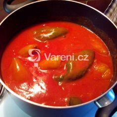 Rajská omáčka s koulemi od babičky recept - Vareni.cz Czech Recipes, Ethnic Recipes, Thai Red Curry, Food, Essen, Meals, Yemek, Eten