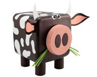 This Site Has A Ton Of Crafts You Can Do Using Common Household Items Cow Hippo Boat Airplane