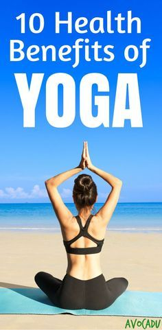 Health benefits of yoga include increased flexibility, balance, stress relief, back pain relief, etc. See more yoga for beginners at https://avocadu.com/benefits-of-yoga/