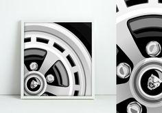 Jaguar Classic Alloy Wheel Graphic Art by jpappleton on Etsy