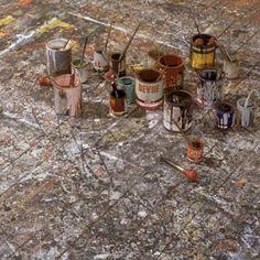 Jackson Pollock | ... paint-splattered floor of an art studio used by artist Jackson Pollock