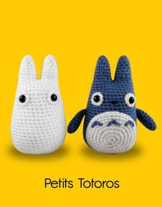 Blog laine tricot crochet | Planète Laine: Modèle crochet gratuit : Petits Totoros