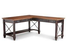 Hartford Open L-Shaped Desk - Furniture Row