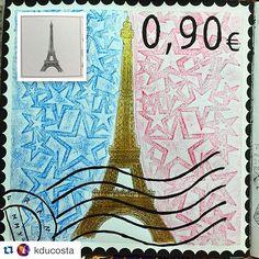 "Instagram media colorindosegredosdeparis - adorei a ideia de selo postal do @kducosta para a página da torre! #colorindosegredosdeparis #segredosdeparis - . . . Mais um do livro ""Segredos de Paris"". #segredosdeparis #paris #selo #livrodecolorir #florestaencantada #jardimsecreto #reinoanimal #colorindo #books #livro Segredos de paris"