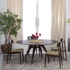 Saloom Furniture Ella Dining Table Finish: Java, Table Top: Strata Top
