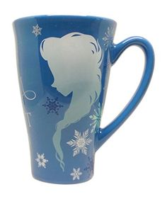Anna and Elsa Silhouette Ceramic Mug  12 Ounces ** To view further for this item, visit the image link.