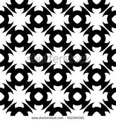 Vector monochrome seamless pattern. Abstract black & white geometric texture in oriental style, repeat tiles. Endless ornamental background, contrast design for prints, decoration, textile, clothing