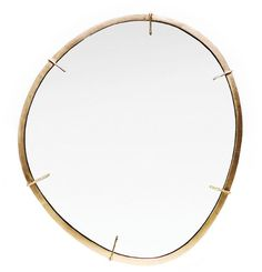 Agate Mirror - Dering Hall - hand-cast brass mirror, inspired by Agate slice pendants.