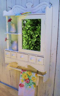 medicine cabinet white shabby chic furniture by backporchco