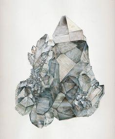 smoky quartz crystal art illustration drawing
