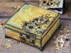 embossing fowers box; Indigoblu Blazing Poppies stamp
