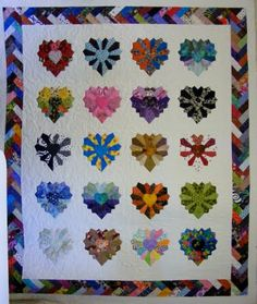 6 Ave Quilting: Dresden Hearts
