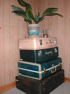 DIY Craft Projects using Old Vintage Luggage - Trash to Treasure