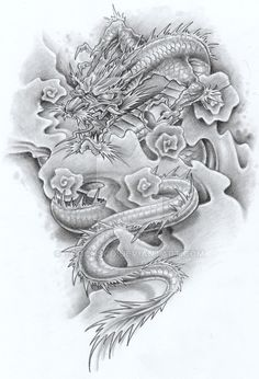 Japanese dragon II smoothed by YooCysco on DeviantArt