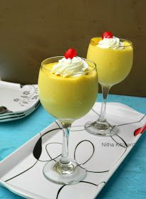 Eggless Mango Mousse Recipe From Scratch, how to make light and airy mango mousse, tips and tricks to make perfect mango mousse, nitha kitchen