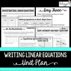 This unit plan includes a 15 full days of lesson plans designed for 90 minute Algebra classes. Included are warm ups, notes, worksheets, projects and assessments.   All you need to do is supplement a few things such as homework assignments and notes! Answer keys for everything are included!