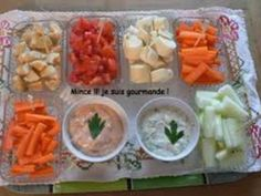 Dips de légumes frais et leurs sauces pour l'apéritif Crudites, Chutney, Fresh Rolls, Food Videos, Tapas, Easy Meals, Food And Drink, Curry, Vinaigrette