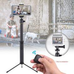 LDX-809 Suit Portable Telescopic Aluminum Alloy Selfie Stick Sales Online 1# - Tomtop Gopro, Bluetooth, Appareil Photo Reflex, Support Telephone, Smartphone, Selfie Stick, Aluminium Alloy, Telescope, Tech Accessories