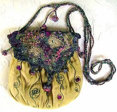 Machine Embroidered Bag
