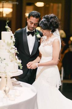 To bring to life Toronto couple Jen and Shana's vision of an ultra-glamorous garden-inspired wedding, Fab Fete combined luscious greenery, opulent golds. Wedding Styles, Real Weddings, Brides, Wedding Inspiration, Glamour, Couples, Wedding Dresses, Celebrities, Outdoor
