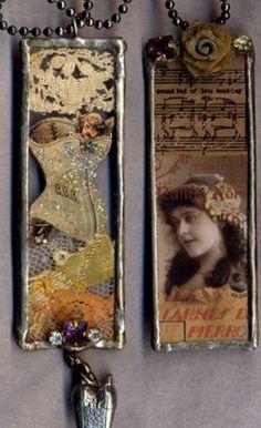 Collage pendant slides glass, bezels, frames, chains www.eCrafty.com http://www.ecrafty.com/c-81-craft-supplies.aspx