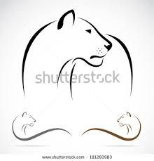 Image result for lioness outline tattoo