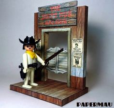 Papermau: The Dirty Dog Saloon Vignette Paper Model For Mini Figuresby Papermau - Download Now!